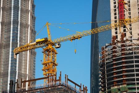 tower crane: Construction site tower crane