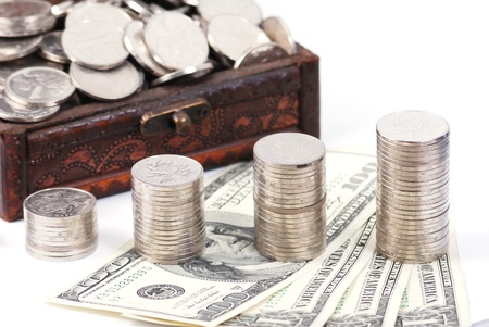 closeout: dollars Stock Photo