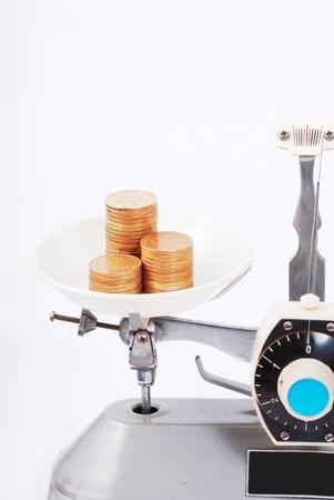 counterpoise: Tray balance Stock Photo