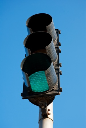 image of Red color on the traffic light photo