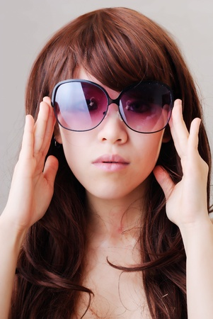 Wearing sunglasses girl photo