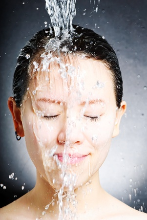 young beautiful attractive woman taking shower Stock Photo - 13632699
