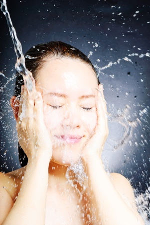 young beautiful attractive woman taking shower Stock Photo - 13632659