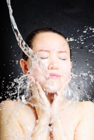 young beautiful attractive woman taking shower Stock Photo - 13632702