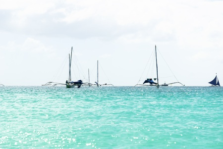 Beach side of the sailing photo