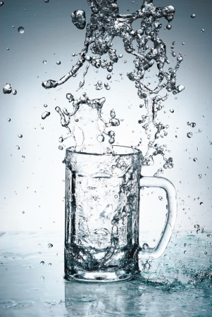 water drip: Water splash out of glass