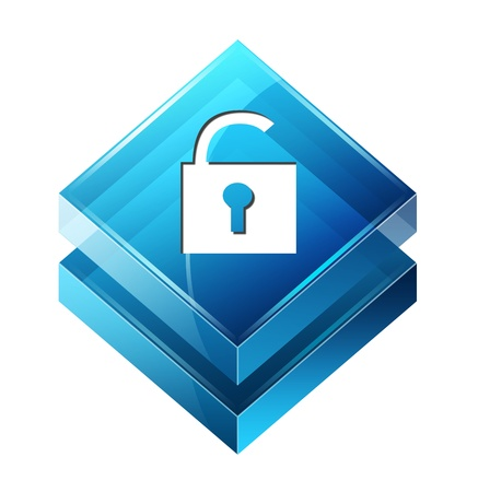 secure site: Transparent to the 3d icon
