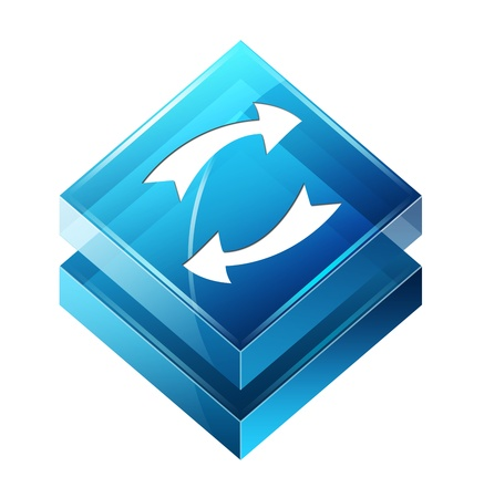 Transparent to the 3d icon Stock Photo - 14625655
