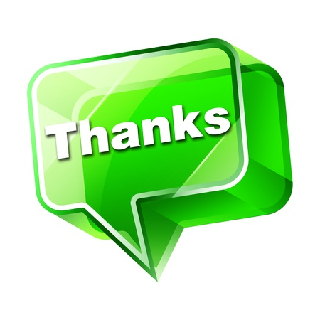 many thanks: Transparent to the 3d icon