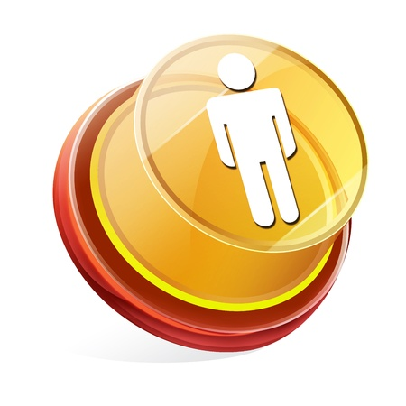 Transparent to the 3d icon photo
