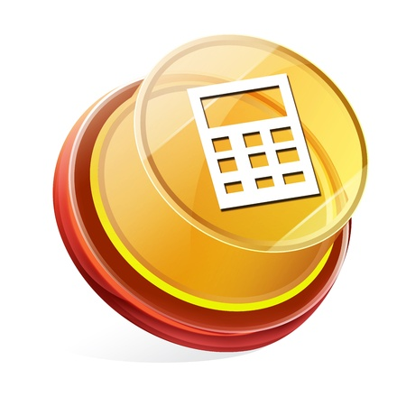 Transparent to the 3d icon Stock Photo - 14712109