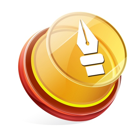 Transparent to the 3d icon Stock Photo - 14711880
