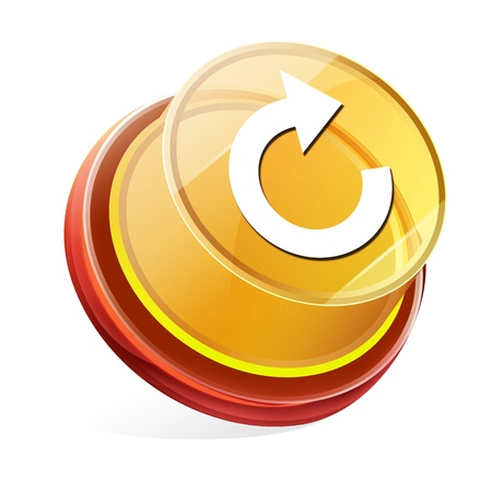 Transparent to the 3d icon Stock Photo - 14711584