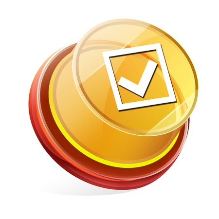 Transparent to the 3d icon Stock Photo - 14712061