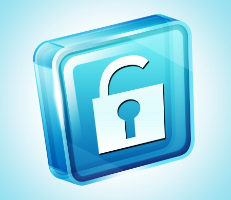 Transparent to the 3d icon Stock Photo - 15903276