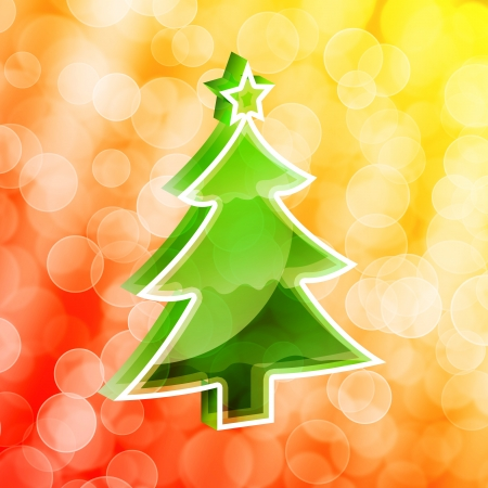 Under the background of dream of the Christmas tree Stock Photo - 16313044