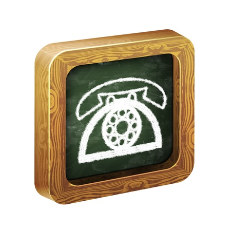 landlines: The wooden frame of the icon, chalk hand-painted