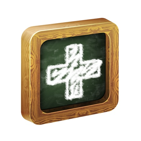 mathematician: The wooden frame of the icon, chalk hand-painted