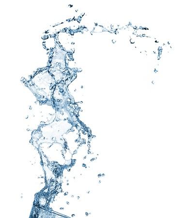 The splash splashing in the white background photo