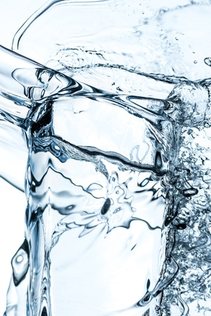 Water splash out of glass Stock Photo - 16714284