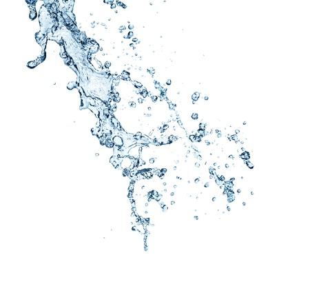 water splash: El splashing en el fondo blanco Foto de archivo