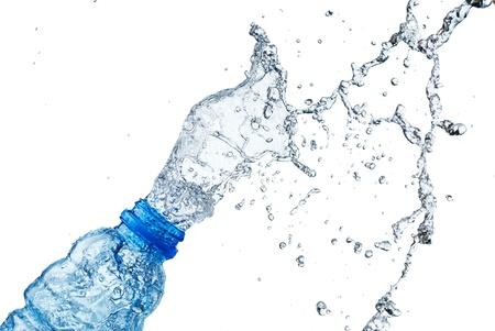 Claboussures d'eau sur verre Banque d'images - 16714160