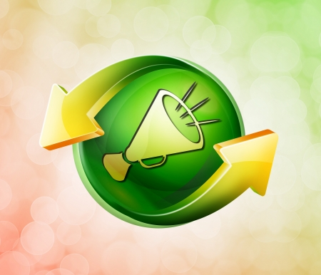 On behalf of the spring green icon Stock Photo - 18770937