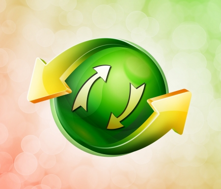On behalf of the spring green icon Stock Photo - 18770674