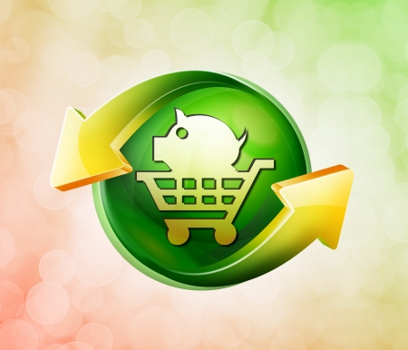 On behalf of the spring green icon Stock Photo - 18770788