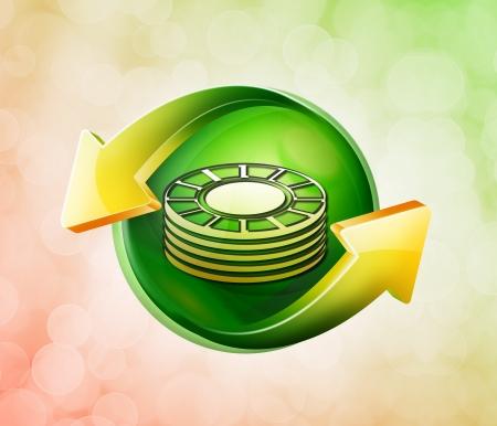 behalf: On behalf of the spring green icon