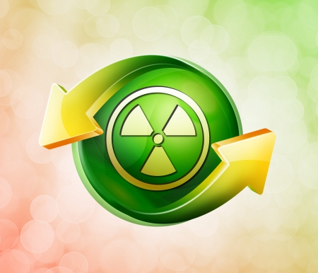 On behalf of the spring green icon Stock Photo - 18771098