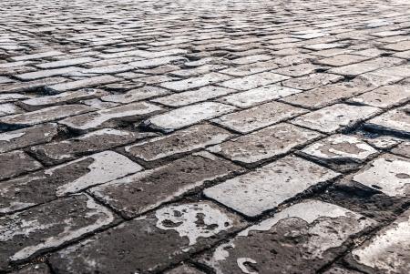 cobblestone: Cobblestone road Stock Photo