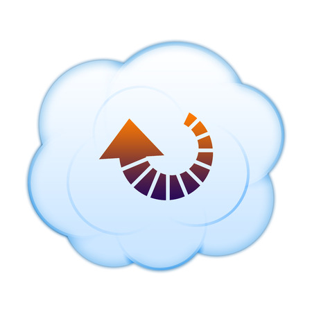 application recycle: Icon on the clouds