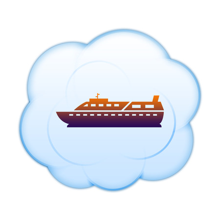 inflate boat: Icon on the clouds