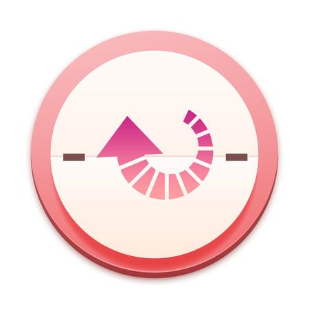 arrowheads: Pink icon,arrowheads symbol turning