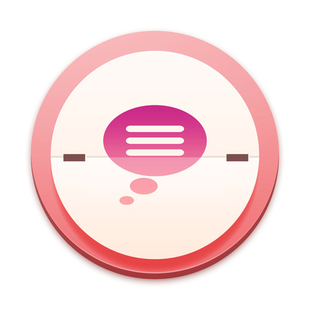 Pink icon, chat concept photo