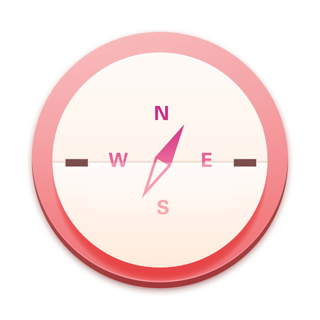 Pink icon, compass photo