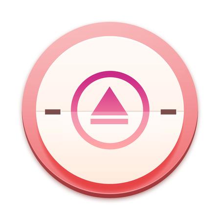 mpg: Pink icon, audio symbol Stock Photo