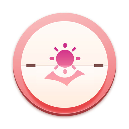 irradiation: Pink icon, the whole series over 300 selectable Stock Photo