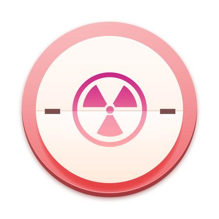 radiactividad: Icono de color de rosa, s�mbolo de la radiactividad