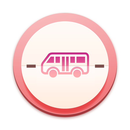 Pink icon,  bus icon photo
