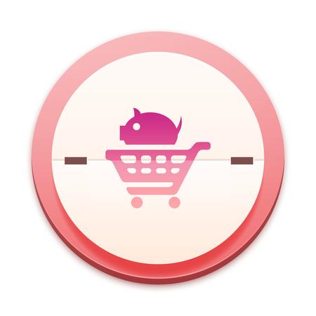 e commerce icon: Pink icon, e commerce symbol