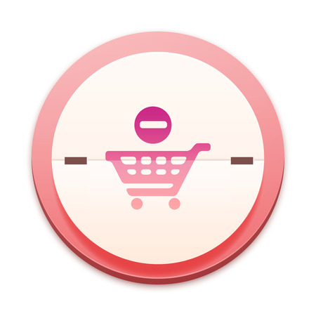 Pink icon, no shopping symbol photo