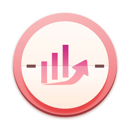 Pink icon, economy raising symbol photo