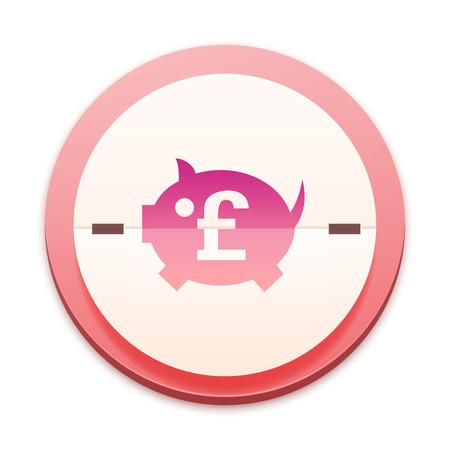 Pink icon,  piggy bank symbol photo