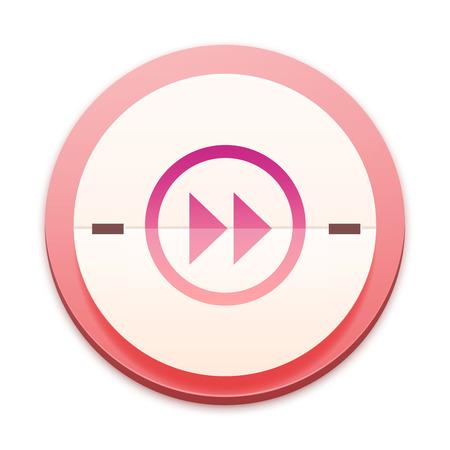 mpg: Pink icon, media forward button Stock Photo