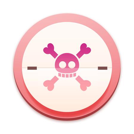 Pink icon, danger symbol