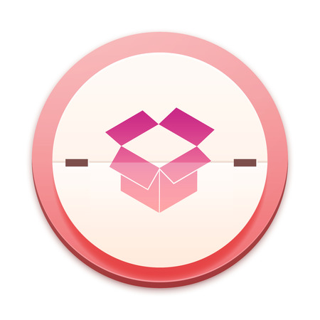 Pink icon, container symbol Stock Photo