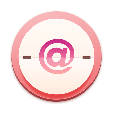 Pink icon, @ Sign