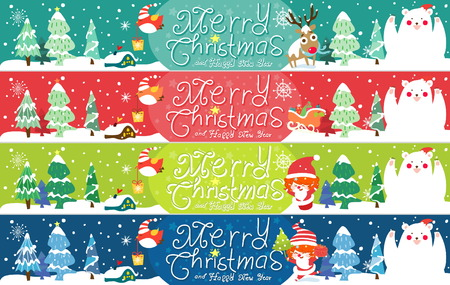 Funny and cute Christmas card Vector